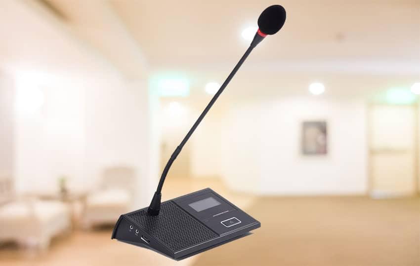 Micro dành cho đại biểu - dàn âm thanh hội trường - FPT Long Biên