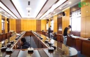 Lắp đặt âm thanh hội thảo cho phòng họp trường ĐH Giao Thông Vận Tải