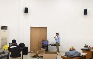 Dàn âm thanh hội trường hình tròn tại trường CĐ cơ giới Hải Dương