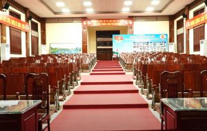 Am thanh cho hoi truong UBND xa Kha Phong