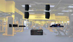 Lắp đặt âm thanh phòng Gym